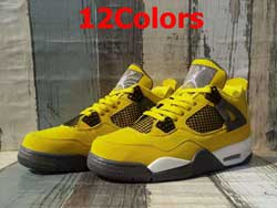 Mens Nike Air Jordan4 Aj4 Mid Basketball Shoes 12 Colors