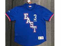 Mens Nba Philadelphia 76ers #3 Allen Iverson Blue 09 All Star Mitchell&ness Hardwood Classics Pullover Mesh Jersey