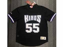 Mens Nba Sacramento Kings #55 Jason Williams Black Mitchell&ness Hardwood Classics Pullover Mesh Jersey
