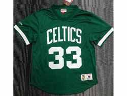Mens Nba Boston Celtics #33 Larry Bird Green Mitchell&ness Hardwood Classics Pullover Mesh Jersey