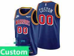 Mens Nba Golden State Warriors Custom Made Blue 75th Nike Swingman Jersey