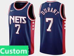 Mens 2021-22 Nba Brooklyn Nets Custom Made Dark Blue Nike Swingman Jersey