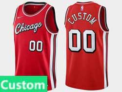 Mens 2021-22 Nba Chicago Bulls Custom Made Red Nike Swingman Jersey