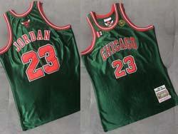 Mens Nba Chicago Bulls #23 Michael Jordan Green 97-98 Mitchell&ness Hardwood Classics Swingman Jersey