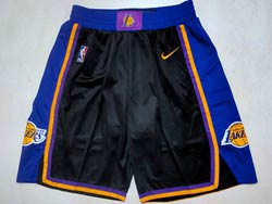 Mens Nba Los Angeles Lakers Black Earned Edition Nike Shorts