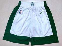 Mens Nba Boston Celtics White City Edition Nike Shorts