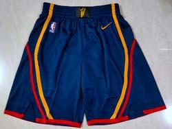 Mens Nba Golden State Warriors Dark Blue Nike Shorts