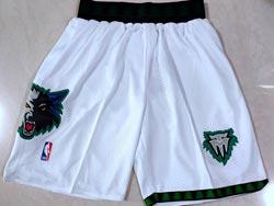 Mens Nba Minnesota Timberwolves White Shorts