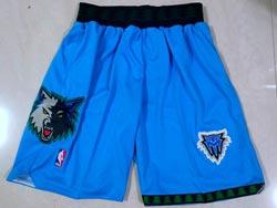 Mens Nba Minnesota Timberwolves Blue Shorts