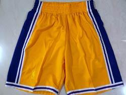 Mens Nba Los Angeles Lakers Yellow 1996-97 Hardwood Classics Shorts