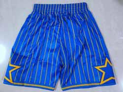 Mens 2021 Nba Orlando Magic Blue Stripe Blue Shorts