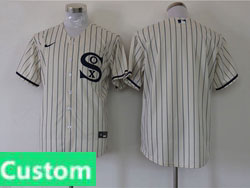 Mens Mlb Chicago White Sox Custom Made Cream 2021 Field Of Dreams Cool Base Nike Jersey No Name