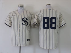 Mens Mlb Chicago White Sox #88 Luis Robert Cream 2021 Field Of Dreams Cool Base Nike Jersey No Name