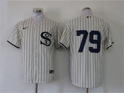Mens Mlb Chicago White Sox #79 Jose Abreu Cream 2021 Field Of Dreams Cool Base Nike Jersey No Name