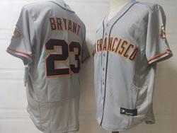 Mens Mlb San Francisco Giants #23 Kris Bryant Gray Flex Base Nike Jersey