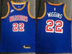 Mens Nba Golden State Warriors #22 Andrew Wiggins Blue 75th Mitchell&ness Swingman Nike Jersey