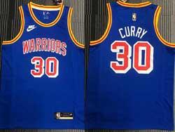 Mens Nba Golden State Warriors #30 Stephen Curry Blue 75th Mitchell&ness Swingman Nike Jersey
