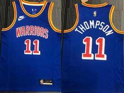 Mens Nba Golden State Warriors #11 Klay Thompson Blue 75th Mitchell&ness Swingman Nike Jersey