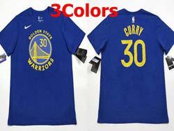 Mens Nba Golden State Warriors #30 Stephen Curry T Shirt Jerseys 3 Colors