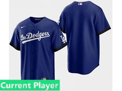Mens Women Youth Mlb Los Angeles Dodgers Current Player Blue 2021 City Connect Cool Base Nike Jersey