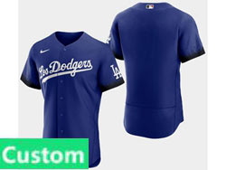 Mens Women Youth Mlb Los Angeles Dodgers Custom Made Blue 2021 City Connect Flex Base Nike Jersey