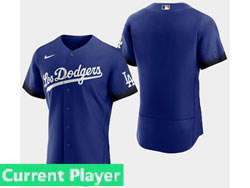 Mens Women Youth Mlb Los Angeles Dodgers Current Player Blue 2021 City Connect Flex Base Nike Jersey
