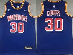 Mens Nba Golden State Warriors #30 Stephen Curry Blue 75th Swingman Nike Jersey