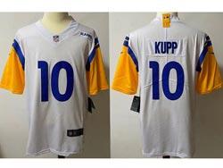 Mens Nfl Los Angeles Rams #10 Cooper Kupp 2021 White Vapor Untouchable Limited Jersey