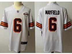 Mens Nfl Cleveland Browns #6 Baker Mayfield White 1946 Vapor Untouchable Limited Nike Jersey