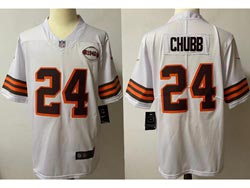 Mens Nfl Cleveland Browns #24 Nick Chubb White 1946 Vapor Untouchable Limited Nike Jersey