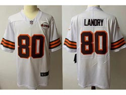 Mens Nfl Cleveland Browns #80 Jarvis Landry White 1946 Vapor Untouchable Limited Nike Jersey