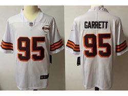 Mens Nfl Cleveland Browns #95 Myles Garrett White 1946 Vapor Untouchable Limited Nike Jersey