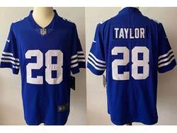 Mens Nfl Indianapolis Colts #28 Jonathan Taylor Blue 2021 Alternate Vapor Untouchable Limited Jersey