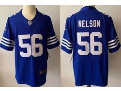 Mens Nfl Indianapolis Colts #56 Quenton Nelson Blue 2021 Alternate Vapor Untouchable Limited Jersey