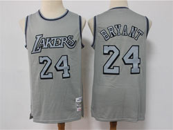 Mens Nba Los Angeles Lakers #24 Kobe Bryant Gray Mitchell&ness Hardwood Classics Limited Jersey