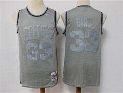 Mens Nba Boston Celtics #33 Larry Bird Gray Mitchell&ness Hardwood Classics Limited Jersey