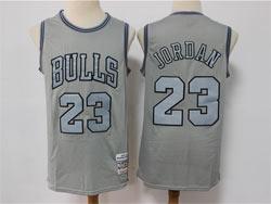 Mens Nba Chicago Bulls #23 Michael Jordan Gray Mitchell&ness Hardwood Classics Limited Jersey