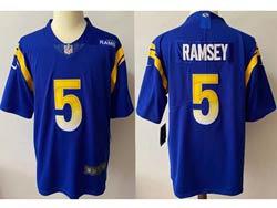 Mens Nfl Los Angeles Rams #5 Jalen Ramsey 2021 Color Blue Vapor Untouchable Limited Jersey