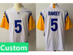 Mens Women Youth Nfl Los Angeles Rams 2021 White Custom Made Vapor Untouchable Limited Jersey