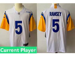Mens Women Youth Nfl Los Angeles Rams 2021 White Current Player Vapor Untouchable Limited Jersey