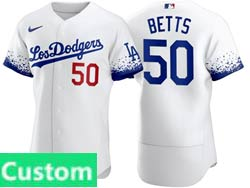 Mens Women Youth Mlb Los Angeles Dodgers Custom Made White 2021 City Connect Flex Base Nike Jersey