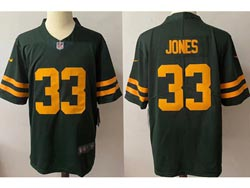 Mens Nfl Green Bay Packers #33 Aaron Jones 2021 Green Vapor Untouchable Limited Nike Jersey