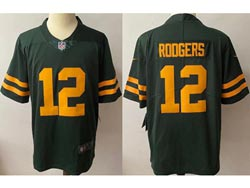 Mens Nfl Green Bay Packers #12 Aaron Rodgers 2021 Green Vapor Untouchable Limited Nike Jersey
