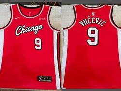 Mens Nba Chicago Bulls #9 Nikola Vucevic Red Swingman Nike Jersey