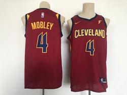 Mens 2021 Nba Cleveland Cavaliers #4 Evan Mobley Red Swingman Nike Jersey
