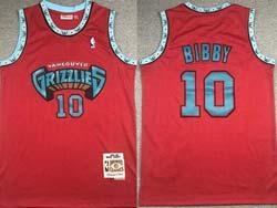Mens Nba Memphis Grizzlies #10 Mike Bibby Red Mitchell&ness Hardwood Classics Swingman Mesh Jersey