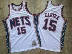 Mens New Nba Brooklyn Nets #15 Carter White 2006-07 Mitchell&ness Hardwood Classics Swingman Jersey