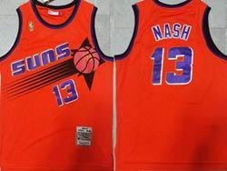 Mens Nba Phoenix Suns #13 Steve Nash Orange Mitchell&ness Hardwood Classics Swingman Mesh Jersey