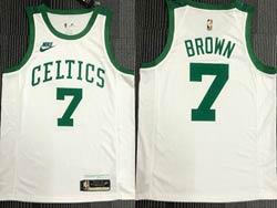 Mens Nba Boston Celtics #7 Jaylen Brown White 75th Mitchell&ness Hardwood Classics Swingman Nike Jersey