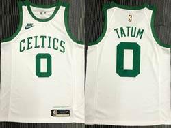 Mens Nba Boston Celtics #0 Jayson Tatum White 75th Mitchell&ness Hardwood Classics Swingman Nike Jersey